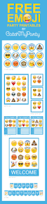free emoji party printables including invitations cupcake toppers