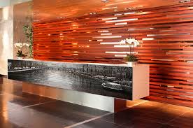 Timber Reception Desk Zinc Fx Vinyl Wrapping