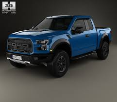 Ford Raptor Blue - ford f 150 super cab raptor 2017 3d model hum3d