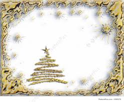 golden starry christmas tree with stars on white background
