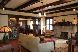 vintage home interior classic fireplace design ideas beams ceiling