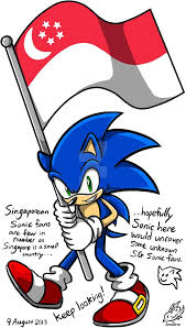 Country Flags Small Sonic Holding The Singapore Flag Sonic The Hedgehog Know Your Meme