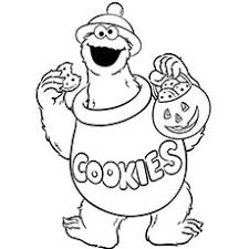 25 free printable cookie monster coloring pages