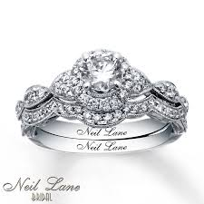 neil bridal set neil bridal set 1 ct tw diamonds 14k white gold