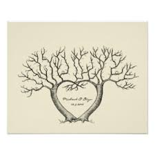 Wedding Trees Wedding Tree Personalised Posters U0026 Prints Zazzle Co Uk