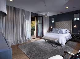 chambre couleur grise decoration chambre coucher peinture murale couleur grise rideau