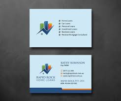 elegant playful business card design for rapid rock home loans by