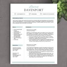 Resume Format For Job In Word by The Davenport