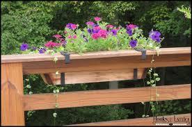 Hanging Flower Pot Hooks Deck Railing Brackets Flowerbox Deck Railing Brackets Planterbox