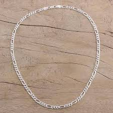 silver necklace from india images Men 39 s sterling silver chain necklace from india modern accent jpg