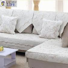 Quilted Sofa Covers Europe Cotton Hand Embroidery Quilted Sofa Cover Fashion Floral