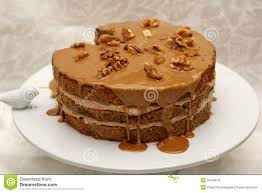 coffee walnut layer cake stock photo image of background 54348078