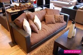 canapé cuir et tissu design d intérieur canape cuir tissu canapac marron gris canape