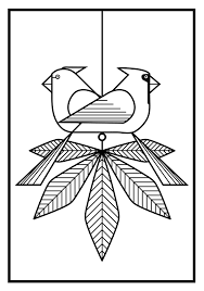 birds coloring cards