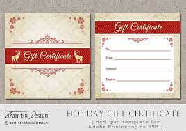 12 best images of holiday gift certificate template photoshop