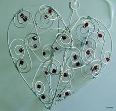 Heart Home Decor 266 Best Wire Hearts Images On Pinterest Wire Wire Crafts And