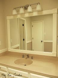 Frame Your Bathroom Mirror Different Types Of How To Frame A Bathroom Mirror With Clips