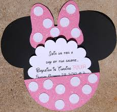 minnie mouse invitations minnie mouse invite idea like the flower look with the