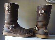 s ugg type boots ugg australia leather motorcycle medium b m s boots ebay