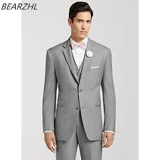 mens light gray 3 piece suit men wedding suits light gray tailor suits for man 3 piece suit