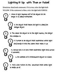 light through objects worksheets articles and lights