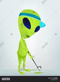 cartoon character funny alien vector u0026 photo bigstock