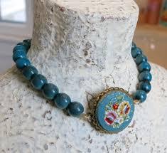antique beaded bracelet images Micro mosaic micro mosaic roses turquoise beaded bracelet stack jpg