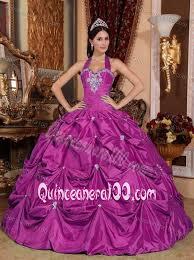 fuchsia quinceanera dresses halter fuchsia quinceanera dresses with ups and appliques