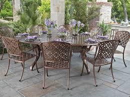 Aluminum Dining Room Chairs Woodard Casa Cast Aluminum Dining Set Casadinset