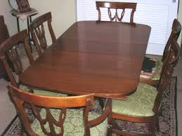 antique mahogany table and 6 chairs by rway furniture co 1940 u0027s