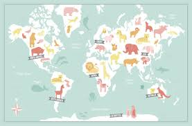 Animal World Map by Art Prints Animal World Map At Minted Com