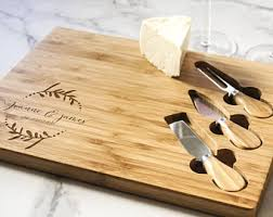 personalized cheese board etsy