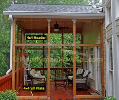 how to install 4x4 framing for eze breeze porch windows