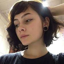 short curly bob wig remy hair lace front bob style wig dark brown color short bob 2