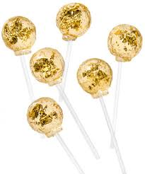 Where To Buy Edible Gold Leaf Gold Lollipops Luxurious Lollipops Made With Edible Gold