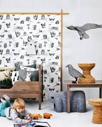 woodland animals in kids rooms by kids interiors bear wall decor