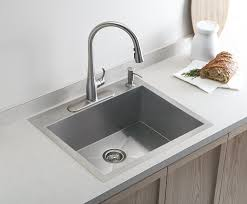 kohler k 3822 4 na vault medium single kitchen sink with four hole
