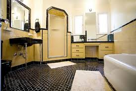 black and brown vintage bathroom floor tile ideas decolover