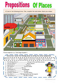 preposition of places worksheet free esl printable worksheets