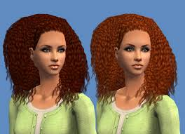 the sims 4 natural curly hair mod the sims nouk kinky curly with braid female hair for all ages