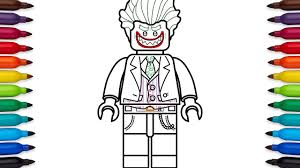 how to draw lego joker from the lego batman movie coloring pages