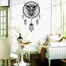mural sticker picture more detailed picture about funlife cat funlife cat wall sticker indian dream catcher decor wall sticker cute owl decals vinyl murals stickers