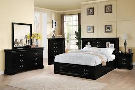 item 024384ck louis philippe iii black finish california king bed california king bed frame w storage