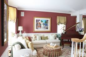 burgundy paint color for living room