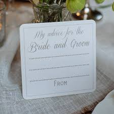advice to the and groom cards wedding advice cards wedding table cards notonthehighstreet