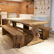 reclaimed trestle dining table rustic oak trestle dining table coma frique studio 25882fd1776b
