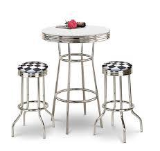 white pub table set the furniture cove 3 piece chrome bar table set with 2 chrome