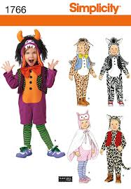 simplicity 1766 toddler u0027s animal costumes and hats