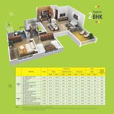 2bhk Floor Plan Floor Plans 2 Bhk 3 Bhk Apartments For Sale In Baner Pune Dsk