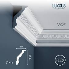 Stucco Decorative Moldings Flexible Stucco Cornice Moulding Decoration Panel Moulding 2 M